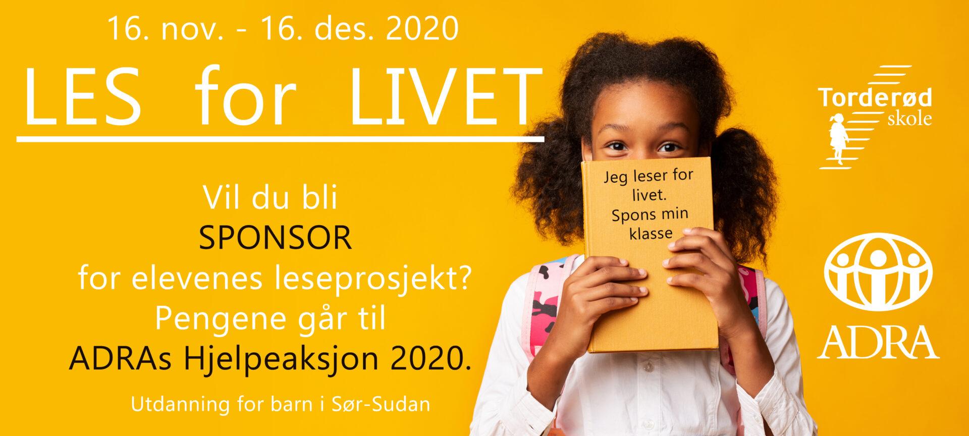 Les for livet - ADRA-Norge Hjelpeaksjon 2020